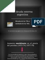 Origen Deuda Externa Argentina + Economía en los '80s