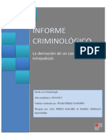 Informe Criminológico. Perez Fandiño, Iñaki