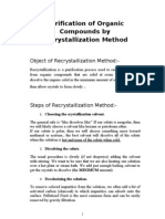 Purification of Organic Compounds by Re Crystallization Method