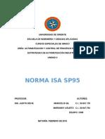 Universidad de Oriente Norma isa sp95