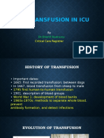 Blood transfusion ICU