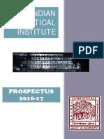 ISI Prospectus2016