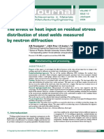 The Effect of Heat Input on Residual Stress Distribution of Steel Welds Measured by Neutron Diffraction