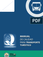MANUAL DE CALIDAD PARA TRANSPORTE TURISTICO