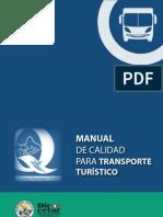 MANUAL DE CALIDAD PARA TRANSPORTE TURISTICO