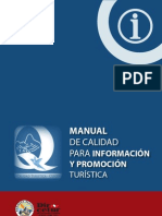 MANUAL DE CALIDAD PARA INFORMACIÓN Y PROMOCION TURÍSTICA