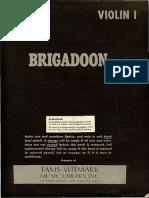 Brigadoon Score. Violin 01