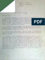 Carta del Catedrático de Botanica Benito Valdes al alcalde de Sanlucar