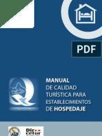 MANUAL DE CALIDAD TURISTICA PARA ESTABLECIMIENTOS DE HOSPEDAJE