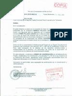 Oficio al fiscal provincial de Tambopata y al jefe de la Región Policial de Madre de Dios