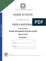 Invalsi Italiano 2011-2012 Terza