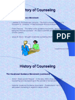 History of Counseling