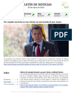 Boletín de noticias 10MAR2016