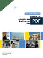 Reformas a La Educacion Superior en Chile