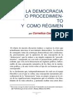 La Democracia Como Procedimiento y Como Regimen (3)