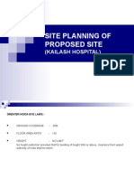 Site Planning of Proposed Site