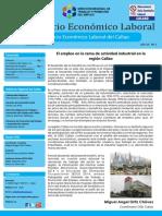 El empleo en la rama de actividad industrial en la región Callao