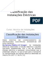 Classificação Das Instalações Eléctricas