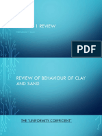 Behaviour of Clay and Sand