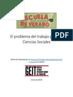 El Problema Del Trabajo Para Las Ciencias Sociales - GEIT