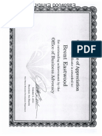 Certificate of Outstanding Achievement_Brent M Eastwood