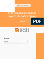 eBook - Critérios Para Selecionar Projetos Lean Six-Sigma