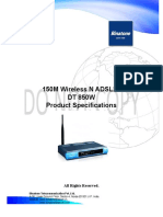 Data Sheet 150M Wireless N ADSL2+ Router(DT 850W)