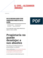 No Es Precario Quien Tiene Parentesco Directo Con El Dueño _ Procesal Civil _ Alexander Rioja Bermudez