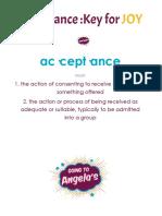 Acceptance Workshop