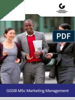 Ggsb Msc Marketing Management Factsheet Web