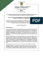 LA DIRECTORA DE ECOSISTEMAS DEL MINISTERIO DE AMBIENTE, VIVIENDA Y DESARROLLO TERRITORIAL