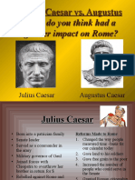 julius vs  augustus powerpoint