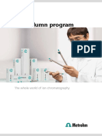 Column Program IonChromatography Metrohn