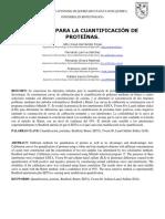 Reporte 2. Metodos para la cuantificación de proteinas