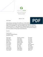 Food Policy Action - Chef Letter