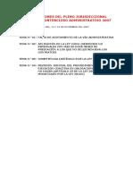 07 - Pleno Jurisdiccional en Lo Contencioso Administrativo 2007