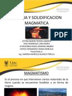 Magma y solidificación magmatica