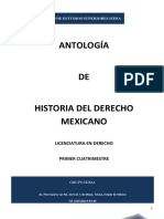 Antologia de Historia Del Derecho Mexicano