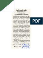 Le Canard Enchaîné CR La Barricade Renversée