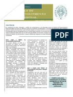 Newsletter Estudante - Nº 1 - Modelo de Desenvolvimento Profissional (MDP)
