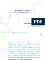 Indian Budget 2016-17