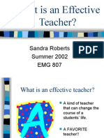PROFESIONALISME GURU- EFFECTIVE TEACHER