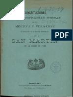 Constituciones de Las Cofradias Unidas de La Minerva y Veracruz Establecidas en La Iglesia ... de San Martin ... de León - 1897