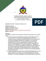 FIL410038- Ontologia e Filosofia Da Arte