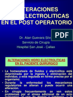 Alteraciones Hidroelectroliticas en El Post Operatorio II