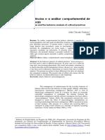TODOROV. Metacontingências e a Análise Comportamental de Praticas Culturais