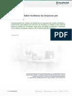 Informe Por Que Se Deben Gestionar Las Empresas Por Procesos