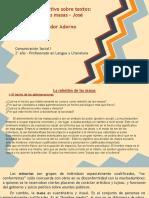 Adorno - Ortega y Gasset