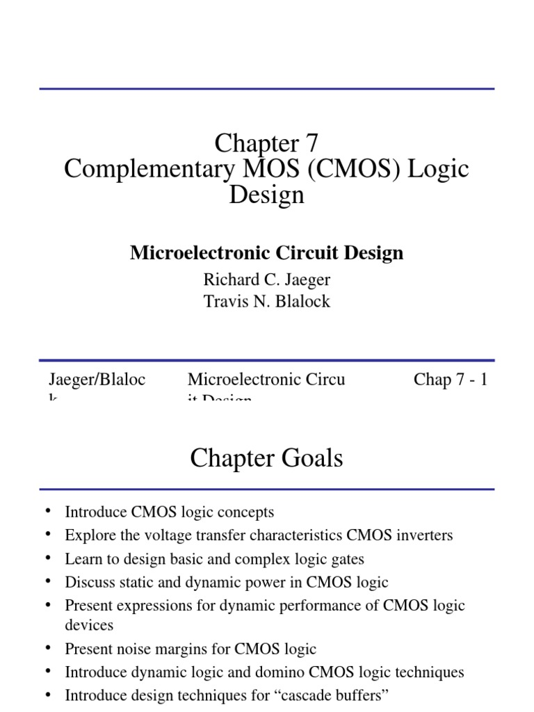 Chap7 Cmos Inverter Principle Mosfet Simple Circuit Of Not Gate Which Is Realized Using Bipolar Transistor