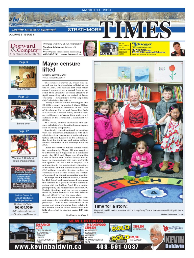 March 11, 2016 Strathmore Times | Business | Wellness